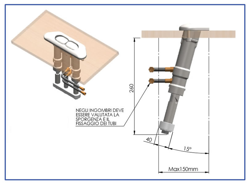 Butler Fairlead: Mounting and dimensions details
